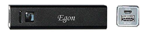Tragbare Externer Akku Ladegerät – 2200 mAh USB Ladegerät mit eingraviertem Namen: Egon (Vorname/Zuname/Spitzname)