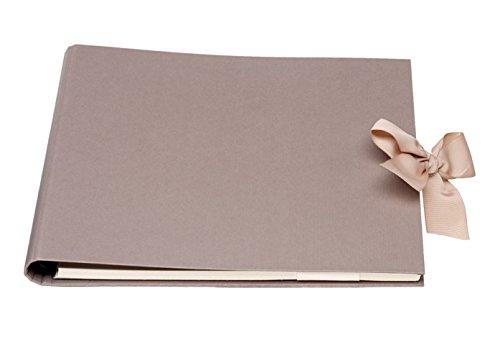 Gäste und Fotoalbum Forever, Wire-o Bindung, 290 x 240 mm, 1 Stück, taupe (Office-geburtstag Deko-ideen)