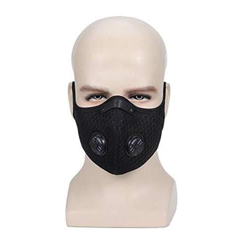 Natural Staubmasken, Wiederverwendbare Atemschutzmasken N95 Gesichtsmasken für Allergien Holzverarbeitung Lauf Schleifen mähendes Halbmaske,Schwarz