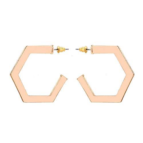 infache Ohrringe, Noch Geometrische Elemente, Polygonale Atmosphäre, Straßenschuß, Geschenk ()