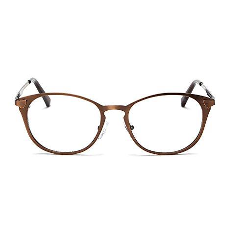 Meijunter einfache Retro-kleinen Rahmen Brille Mode Runde Metallrahmen Brille ohne Stärke Brillenmode