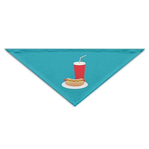 (Sdltkhy Summer Beach Hot Dog Cold Drink Dog Bandanas Scarves Triangle Bibs Scarfs Design Basic Neckerchief Cat Collars Pet Costume Accessory Kerchief Holiday Birthday Gift)