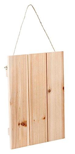 VBS Deko-Holzplatte mit Aufhängung ca. 30x40cm