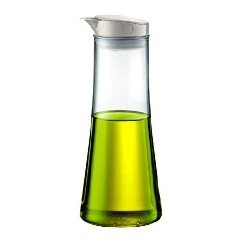 Bodum Bistro Öl- oder Essigbehälter (Silikon-Kugel Verschlusssystem, Gießtülle, 0,5 liters) cremefarben