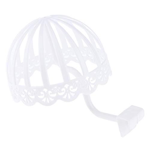 Dekorative Flexible Kunststoff Wandhalterung Kleinkind Kleinkind Kinder Hut Kappe Perücke Kleiderbügel Display Rack Wäscheständer - Weiß