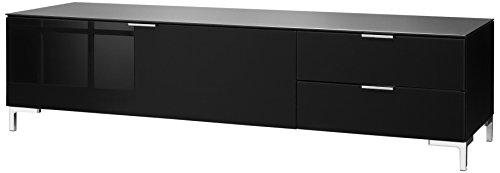CS Schmalmöbel 45.102.507/012 TV-Board Cleo Typ 12, 163 x 50 x 44 cm, schwarz / schwarzglas