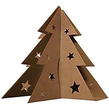 Albero di Natale da tavolo in cartone - alt. 30 cm (Avana) - lampadina NON INCLUSA