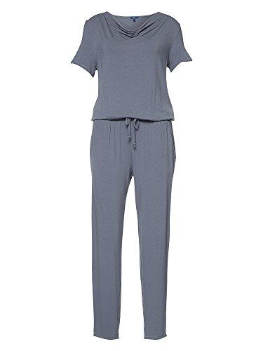 TOM TAILOR Damen Feminine Waterfall Jumpsuit, steal blue, S