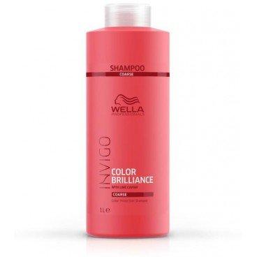 Wella Invigo Color Brilliance Protection Shampoo 1000 ml Pflegendes Shampoo für coloriertes & krauses Haar