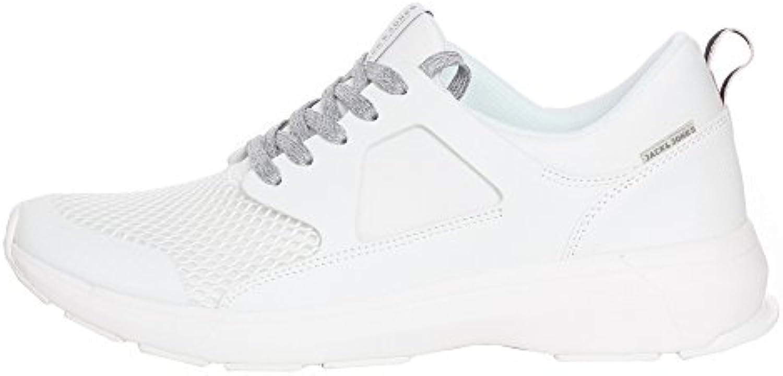 Zapatillas Jack&Jones Hombre Blanco 12121843 JFWHATTON MESH BRIGHT WHITE