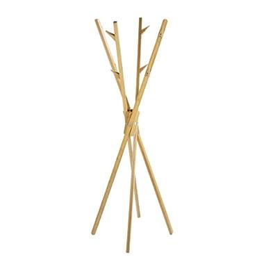 WENKO 4900004100 Standgarderobe Mikado aus Bambus, Bambus, 66.5 x 170 cm, Braun
