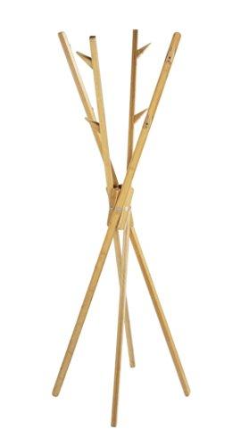 WENKO 4900004100 Standgarderobe Mikado, Bambus, 66.5 x 170 cm, Braun