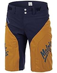 Maloja Radhose Freeride Shorts NewbergM. gelb-blau Stretch winddicht