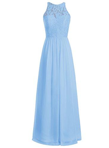 Bbonlinedress Robe de cérémonie Robe de demoiselle d'honneur longueur ras du sol Bleu