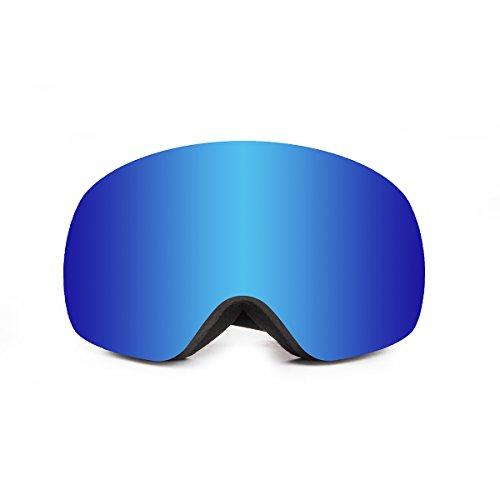 OCEAN SUNGLASSES Arlberg Sonnenbrille Schnee Polarisiert Unisex Erwachsene, Blue Frame/Revo Blue Lens