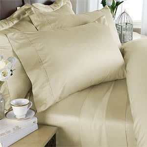 Egyptian Bedding Rayon From Bamboo Sheet Set - King Size Ivory 800 Thread Count Cotton Sheet Set (Deep Pocket)