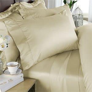 Fadendichte 300 ägyptische Baumwolle, 300TC Bettwäsche-Set für King Size, Elfenbein, (300tc-bettwäsche-set)