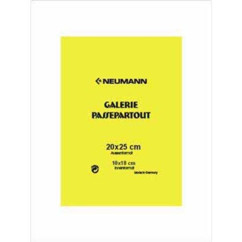 Schrägschnitt-Passepartout, 20 x 25 cm, weiss