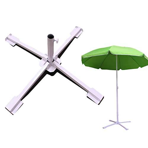 Lin-Tong Sun Umbrella Base Patio Umbrella Base Faltbarer Leichter Schirmständer Outdoor Base White für Yard Patio Outdoor -