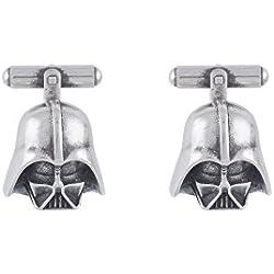 """Gemelos STAR WARS con """"Cabeza Darth Vader"""" Een Zamac bañado en plata .Tamaño: 20 Mm."""