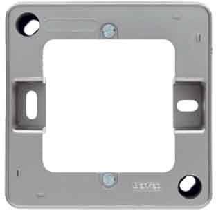 Preisvergleich Produktbild Hager ARSYS–Sockel 1Element Montage scheidenden Edelstahl