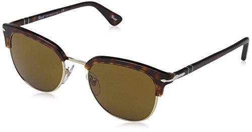 Persol Unisex Icons Sonnenbrille, Braun (Gestell: Havana Glas: Brown 24/33), Small (Herstellergröße: 51)