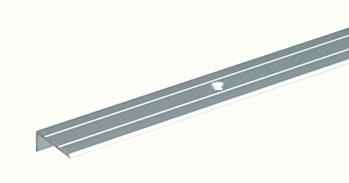 GAH-Alberts 476755 Treppenkanten-Schutzprofil - Aluminium, silberfarbig eloxiert, 1000 x 24,5 x 20 mm