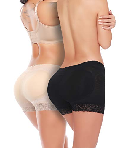 MISS MOLY Body Shaper Panty Padded Pad Butt Lifter Booty Hip Enhancer Shapewear -