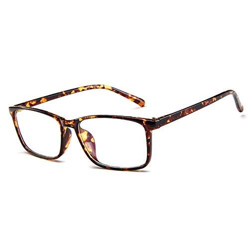 JoXiGo Nerd Brille Damen Herren Ohne Stärke Rechteckig Rahmen Klar Linse Brillenfassung mit Etui -...