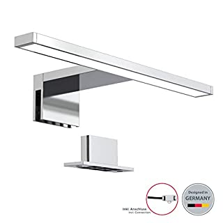 B.K. Licht bath mirror light LED, bath wall lamp, vanity mirror frame light, make-up lighting, neutral white 4000K, 230V, IP44, 11,8in