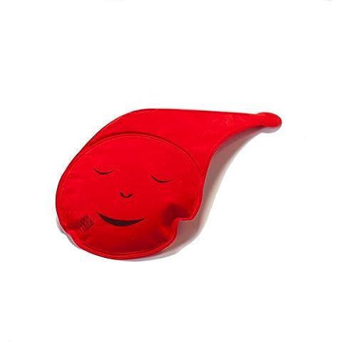 Kerafactum®–Diseño de arena térmica Cojín de Gel Gel Cojín Rojo con funda para el microondas