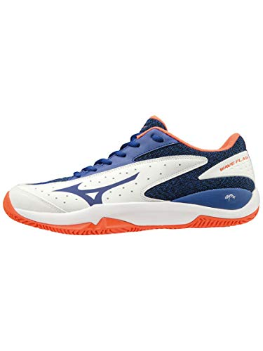 Mizuno Wave Flash CC, Scarpe da Tennis Uomo, Multicolore (Stormy Weather/Silver/Dahlia Purple 03), 43 EU