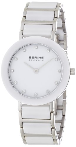 BERING Ceramic Collection Quartz White Women's Watch With Link Band 11429-754