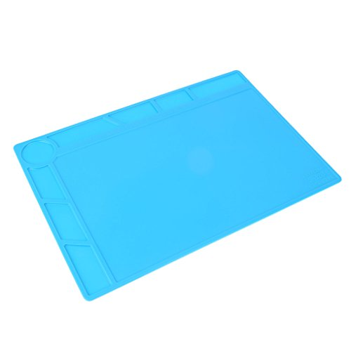 Minzhi 34x23cm W?rmeisolierung Silikon-Pad Schreibtisch Matte Anti-Statik-Wartungsplattform f¨¹r BGA L?ten Repair Station Werkzeug