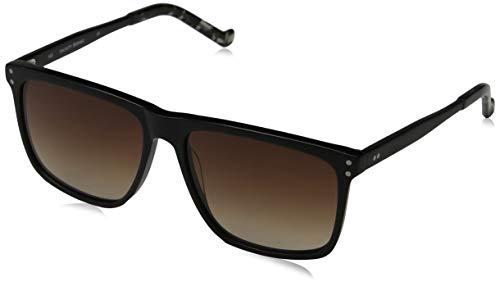 Hackett London Herren Bespoke Sonnenbrille, Schwarz (Black/Brown), 57.0