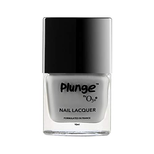 O3+ Plunge Nail Paint Polish Lacquer Colour (10 ML, Grey)