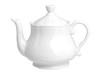 H&H 4361470Pengo Alba Théière 1,2Lt, Porcelaine, Blanc