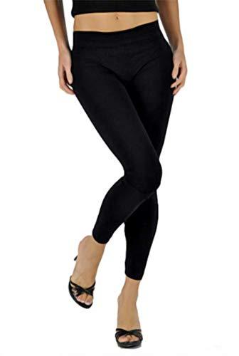 Basic&Classic Damen Leggings Knöchellang Blickdichte Frauen Leggins für Lang Yoga Tights One Size Standard größe (1 und 2 Pack) 1-er Set -
