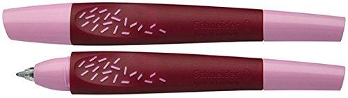 Schneider Breeze Patronenroller (inkl. Rollerpatrone 852 mit Kugelspitze, Schreibfarbe: königsblau, löschbar) rosa