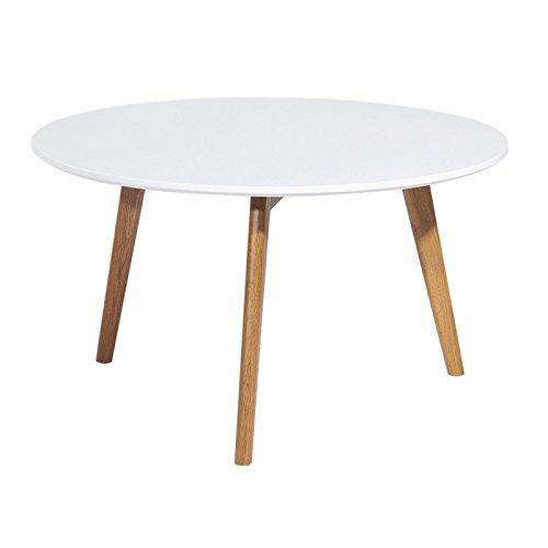 ACTUAL DIFFUSION 9365B Vintage Table Basse Ronde à 3 Pieds Bois 90 x 90 x 45 cm