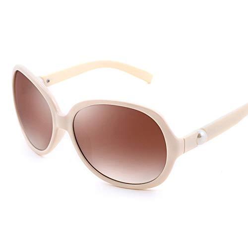 ZTMN Sonnenbrillen Sonnenbrillen - Polarisiert, UV-beständig, Retro-Mode, großer Rahmen, Damen beim Fahren, Straßenschießen, Einkaufen, Sport im Freien, insgesamt 4 Farben zur Auswahl (Farbe: Rei