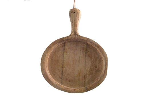 Schneidebrett Brett Holz Mangoholz Jausenbrett Käsebrett Servierbrett Küchenbrett zum Hängen 45x3x31 cm