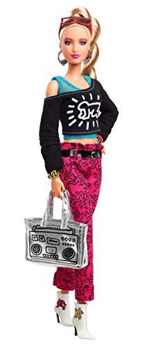 Barbiex Keith Haring Puppe zum Sammeln, FXD87 Spielzeug, Mehrfarbig