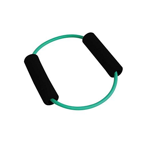 1x Behrend PowerUp O-Tube Pilates Yoga Gymnastik Fitness Widerstands Ring, grün, mittel