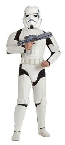 Star Wars Kostüm Stormtrooper M/L 48/52 Starwars Storm Trooper Sturmtruppler Outfit Verkleidung Herren (Leia Organa Kostüm)