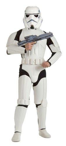 Star Wars Kostüm Stormtrooper M/L 48/52 Starwars Storm Trooper Sturmtruppler Outfit Verkleidung Herren (Storm Erwachsene Für Kostüm)