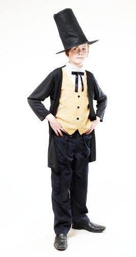 Kostüm Viktorianischer Gentleman Abraham Lincoln Outfit 146 cm; 9-10 Jahre