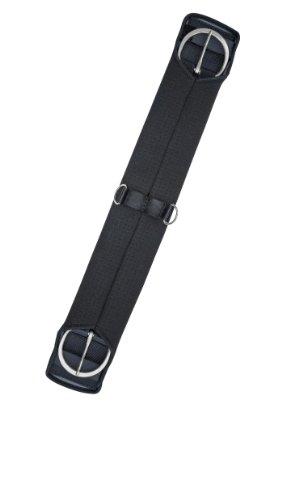 Gera 9004 Sattelgurt, Western-Gurt, beidseitig elastisch, 60 cm/24 Zoll, schwarz (Gurt Western)