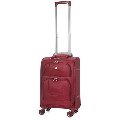 Aerolite Leichtgewicht 8 Rollen Handgepäck Trolley Koffer Bordgepäck Kabinentrolley Reisekoffer Gepäck , Genehmigt für Ryanair , Easyjet , Lufthansa , Jet2 und Vieles Mehr , Marineblau Wein