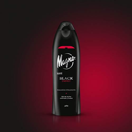 Magno -  Gel de ducha Black Energy -  550ml (pack de 6) Total: 3300ml
